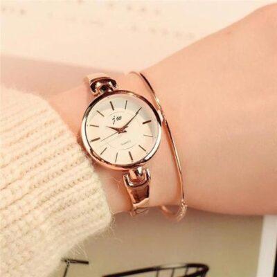 dames horloge marmeren wijzerplaat