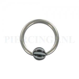 BCR 1.2 mm strandbal zwart