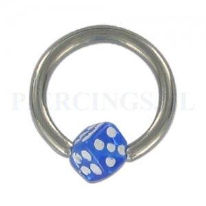 BCR 1.6 mm acryl balletje dobbelsteen blauw