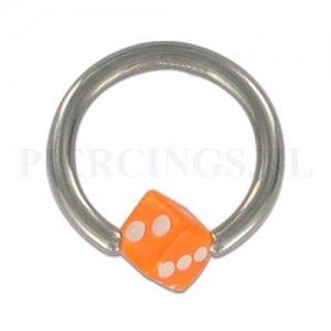 BCR 1.6 mm acryl balletje dobbelsteen oranje