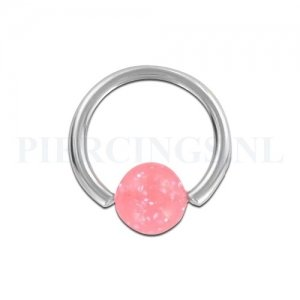 BCR 1.6 mm acryl glitter roze