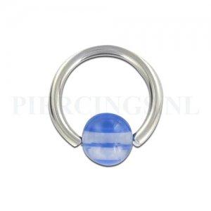 BCR 1.6 mm doorzichtig met blauw streepje