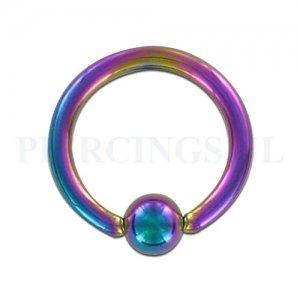 BCR 1.6 mm geanodiseerd rainbow