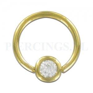 BCR 1.6 mm goud 14 karaat met kristal