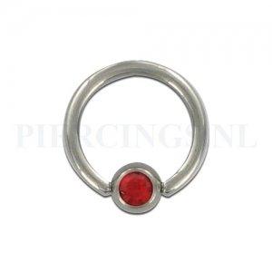 BCR 1.6 mm kristal rood