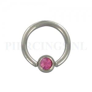 BCR 1.6 mm kristal roze