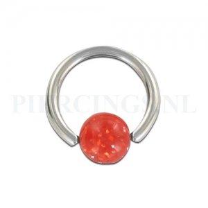 BCR 1.6 mm rood glitter
