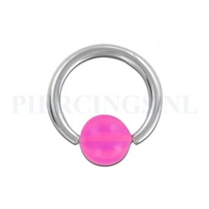 BCR 1.6 mm strandbal roze-paars