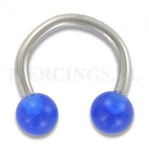 Circulair barbell 1.6 mm acryl blauw