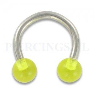 Circulair barbell 1.6 mm acryl geel