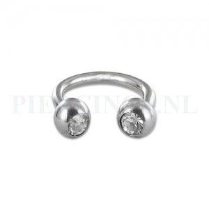 Circulair barbell 1.6 mm kristal