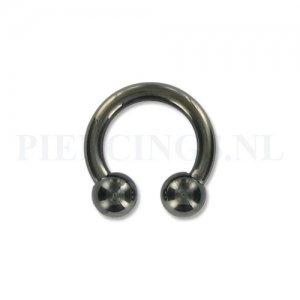 Circulair barbell zwart 2.5 mm