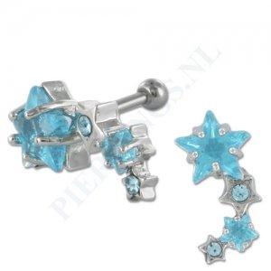 Helix sterren aquamarijn