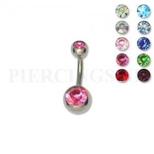 Juwelen navelpiercing S 8 mm groen
