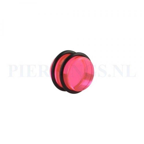 Plug acryl roze 14 mm 14 mm