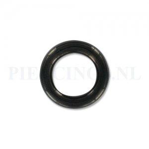 Segmentring zwart 4 mm x 12 mm