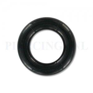 Segmentring zwart 5 mm x 12 mm