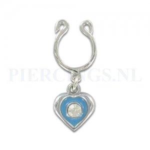 Tepelclip hart blauw