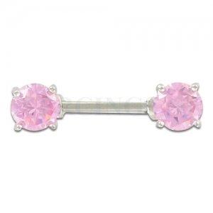 Tepelpiercing kristallen roze