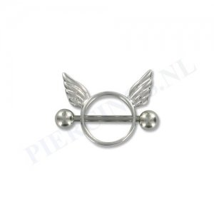 Tepelpiercing shield engel