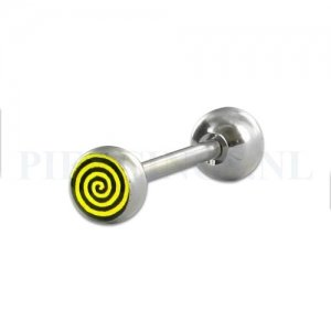 Tongpiercing logo Twister 6 mm bal