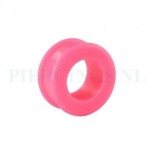 Tunnel siliconen double flared roze 24 mm 13 mm dik 24 mm