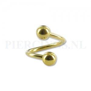 Twister 1.6 mm goud kleur L
